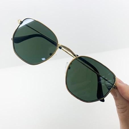 Óculos de Sol Hexagonal Cor:Verde