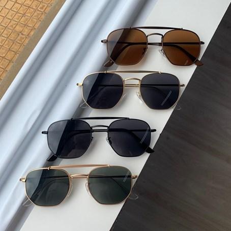 Óculos de Sol Hexagonal K-9