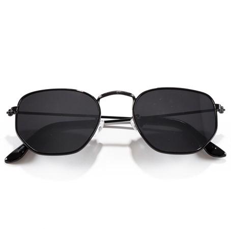 Óculos de Sol Hexagonal Preto